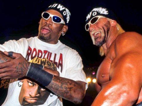Dennis Rodman and Hulk Hogan
